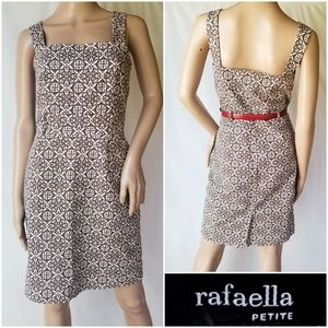 Rafaella printed sheath dress with pockets